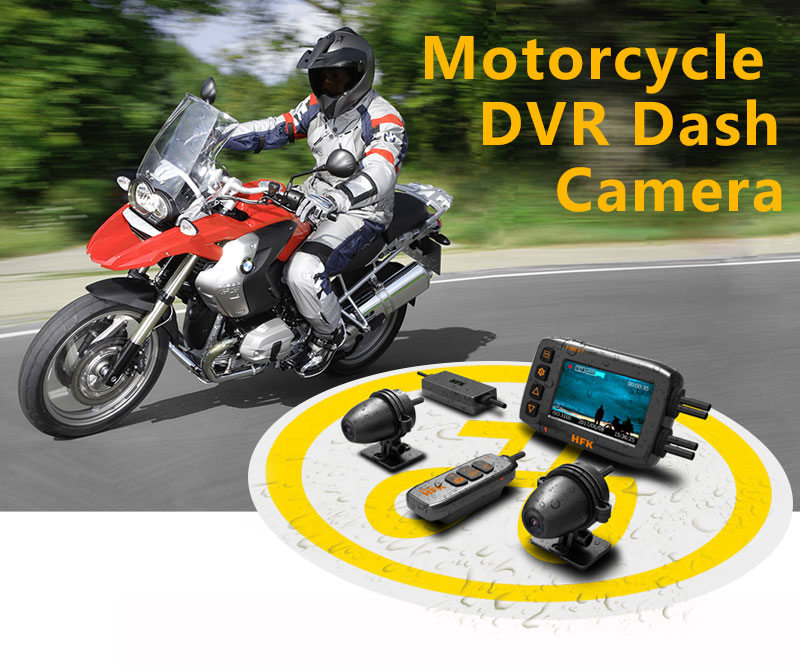 New waterproof motorcycle DVR dash cam, 1080p video recorder for several channel to install