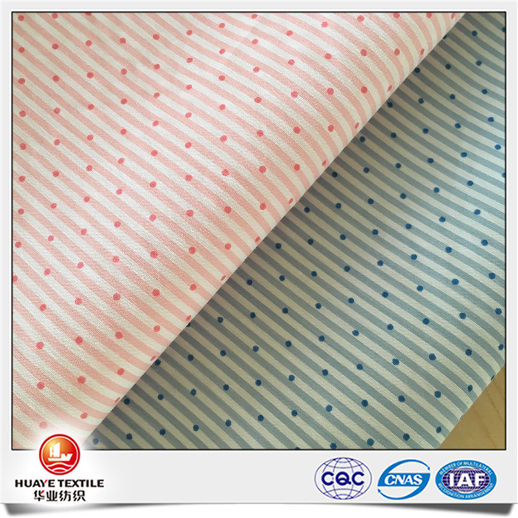 Yarn dyed quality nylon cotton spandex strip print fabric for shirt