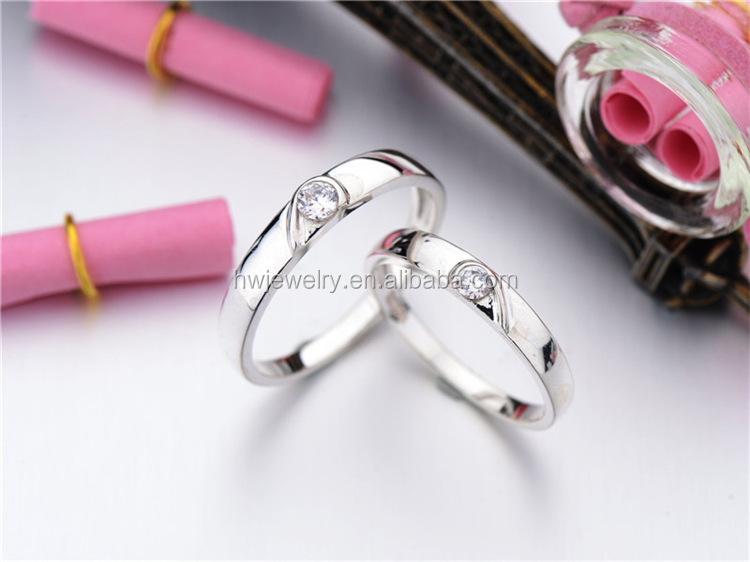 2014 weeding rings couple 925 jewelry silver