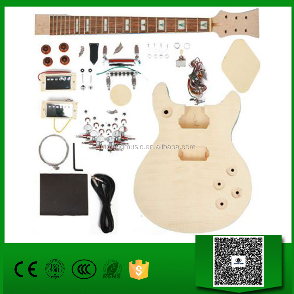 Flame Maple top and neck Set-in Electric guitar kit