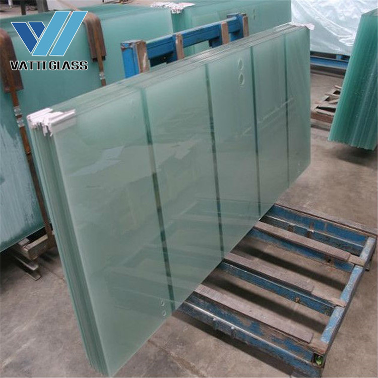 Tempered Safety Glass Acid Etched Balcony glass frameless frosted glass
