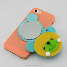 Hot Sale Cute Cartoon Bear Image Design PC Mirror Cover Case For Apple iPhone 6/6S, Lovely Mirror Mobile Phone Case For Girls