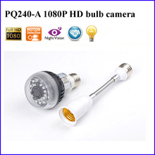 Wireless WiFi IP P2P Light Bulb Hidden Camera CMOS 1920 x 1080P HD by Smart Phone PC Remote Monitoring