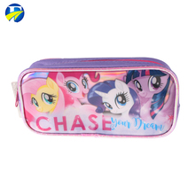 logo printing custom kids stationery pen case promotion soft pencil bag