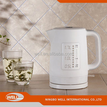 1.7L 360 Degree Rotation Plastic Electirc Cordless Water Kettle