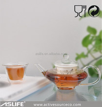 AST2117C high borosilicate microwave oven glass teapot 250ml/8.45oz japanese glass teapot with ceramic strainer