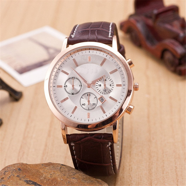 2016 hot sell fashion male watch men casual leather quartz watches men luxury brand man wristwatch relogio masculino relojes