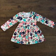 Hot Sale Frock Design Girls Dresses Children's Girls Spring Floral Dress Fancy Spring Floral Dress