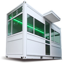 portable cabins luxury house prefab modular homes Transformed 20'ft shipping container house