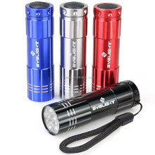 Best price with custom logo personalized 9 LED UV flashlight