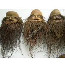 China wholesale market long beard hot sale the gods of longevity bamboo root carving