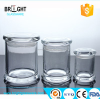 Hot sell clear candle jar , glass candle container
