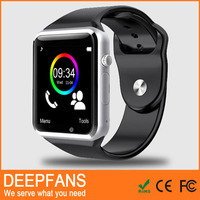 mtk6260a cpu 128+64m tf memory card support smart watch y6 a1 w8 gsm android watch phone cheapest factory price