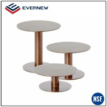Custom sizes stainless steel tea base cup stand coffee pedestal