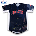 OEM orders acceptable dye sublimation women baseball jersey