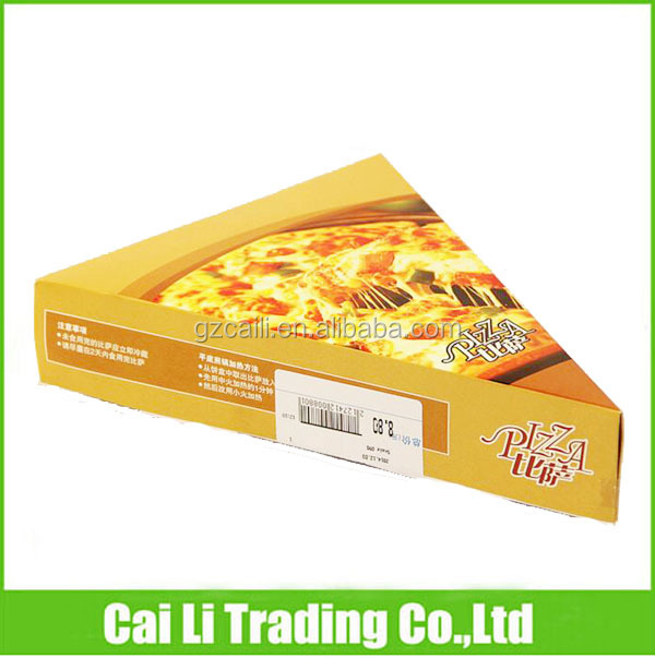 offset printing triangle shaped custom pizza boxes