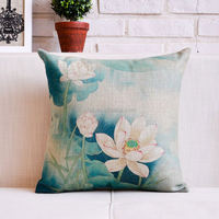hot sale printed chinese embroidered cushion cover pillow cover