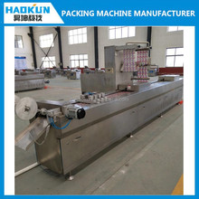 factory price full automatic continuous hard drawing thermoforming vacuum sealer packing machine with printing system
