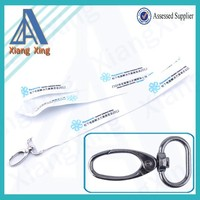 2015 single custom lanyard white with branded logo