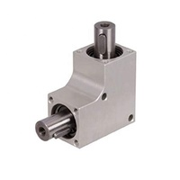 custom design straight shaft diameter 6mm right angle 2 way small mini miniature micro bevel gearbox 1:1