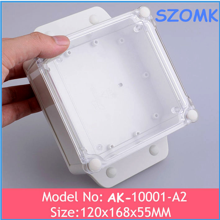 168*120*55mm Wall Mount Type Clear ABS Cover IP68 Waterproof Enclosure/Box/Case for Electronics Project