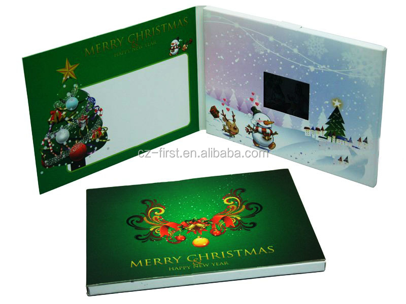 Beautiful Christmas Digital Video Greeting Cards Gift