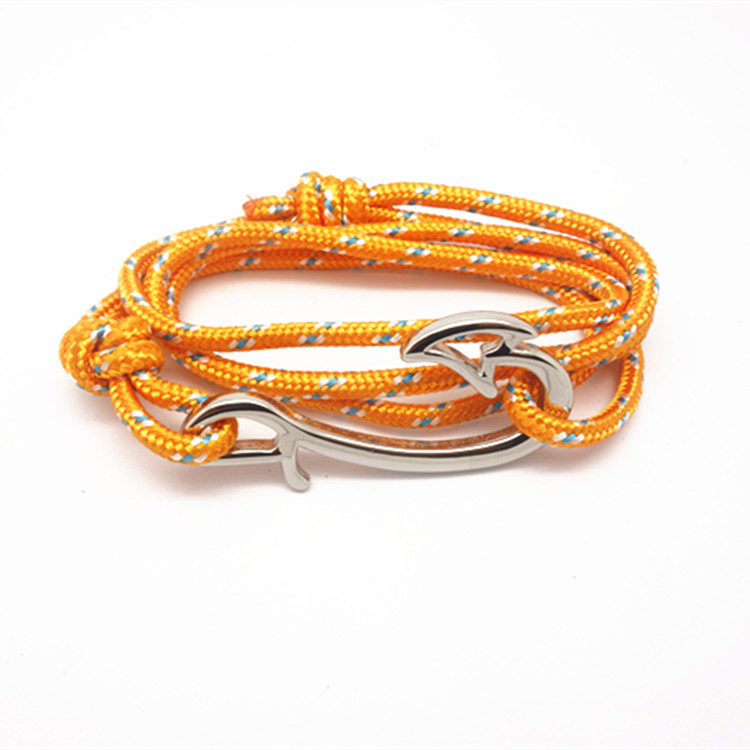 hot sale cotton rope anchor bracelet for men and women