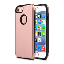 Anti Slip Metal Mobile Phone PC Brushed Back Cover Hard Case for iPhone 5 SE 6 6 Plus 7 7 Plus