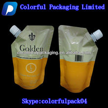 16oz Golden Beet Sugar/Water packaging bag with corner spout