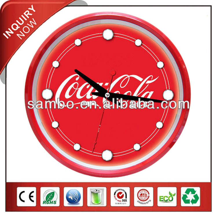 Quartz Analog Wall Clock Cola