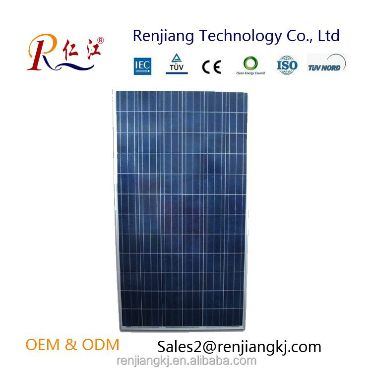 hot CE ISO TUV ROHS certified Mono crystalline 130w solar panel