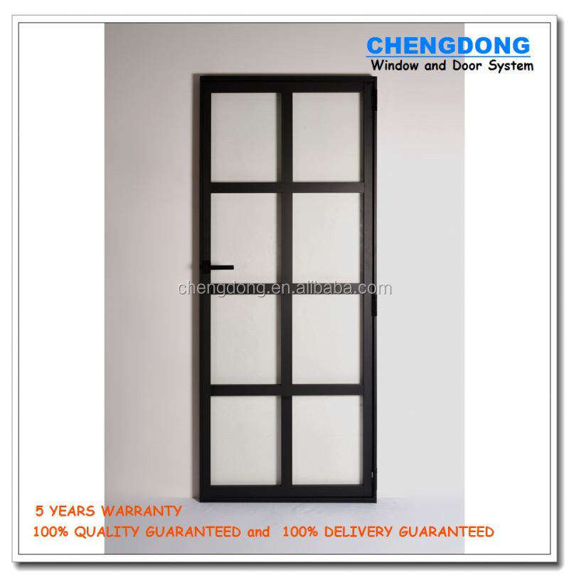 Nice looking and cheap price aluminum french interior door