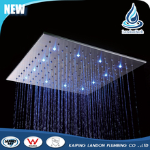 High Grade Bathroom stainless steel rain LED shower head