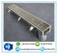 Bathroom Channel Drain Supplier stainless steel grates