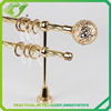 Round iron rod and finials Metal adjustable bracket Crystal curtain rod end