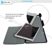 BLACK Slim Polyurethane Magnetic For iPad AIR 2 Smart Cover Case Stand + Stylus