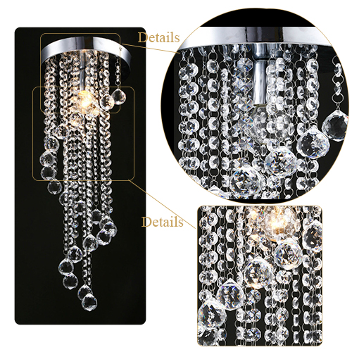 2017 hot selling hallway living room spiral drop lustres cristal chandeliers