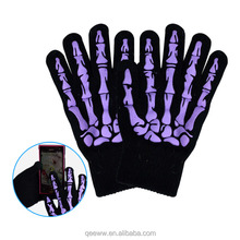 bone printed gloves different Touch Screen Devices Smart Phone Texting Glove