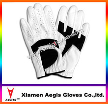 custom leather golf gloves white lycra custom golf glove,custom glove factory
