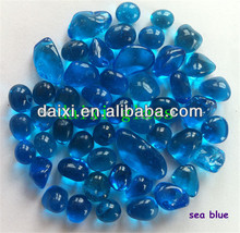 glass products of wall glass decoration beads solid color round glass beads