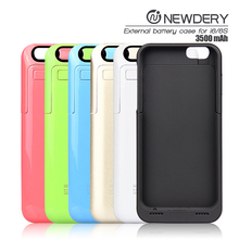 mobile accessories ABS+PC material external battery case power bank charger for iphone 6 6s
