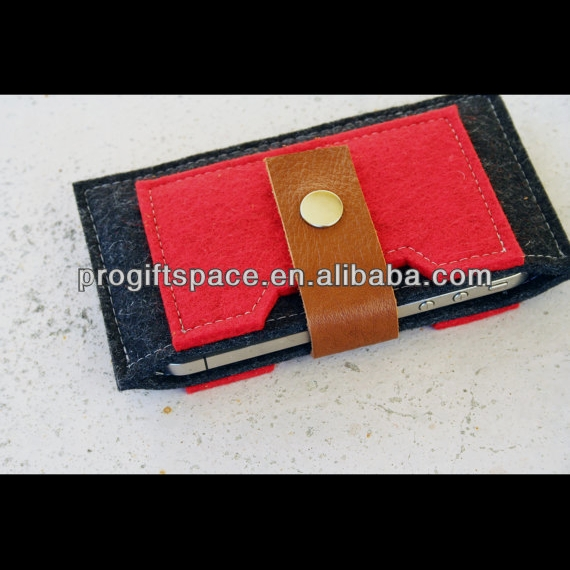Hot new product best selling for 2017 quality 100% Wool Felt phone wallet sleeve made in China
