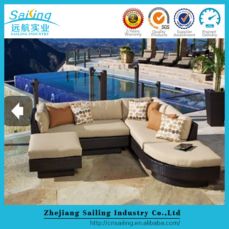 Latest Produce Famous Brand Outdoor Sofa Europe Daybed Furniture Of Rattan
