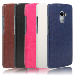 2016 New Simple Leather Back cover for Lenovo Vibe X3 Lite 5 colors
