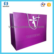 Promotional foldable party jewelry paper shopping bag