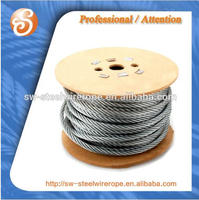 DIN GB/T standrad 6x25FI+FC zinc galvanized sclass A.AB.B Steel wire rope for excavator lifting