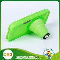 Small volume retractable camera soft no deformation silicone 5.5 inch mobile phone case
