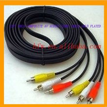 3-RCA COMPOSITE AV AUDIO VIDEO CABLE GOLD PLATED