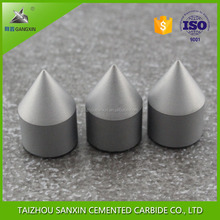 Tungsten carbide brazed tipped centered tool parts for lathe dead centers