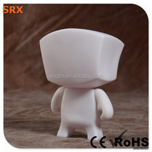 Pop robot head blank vinyl figure, DIY white pop vinyl hot toys for kid, OEM non-toxic blank vinyl figures China manufacturer